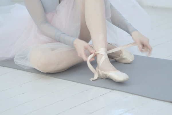 Stretching exercises in ballet