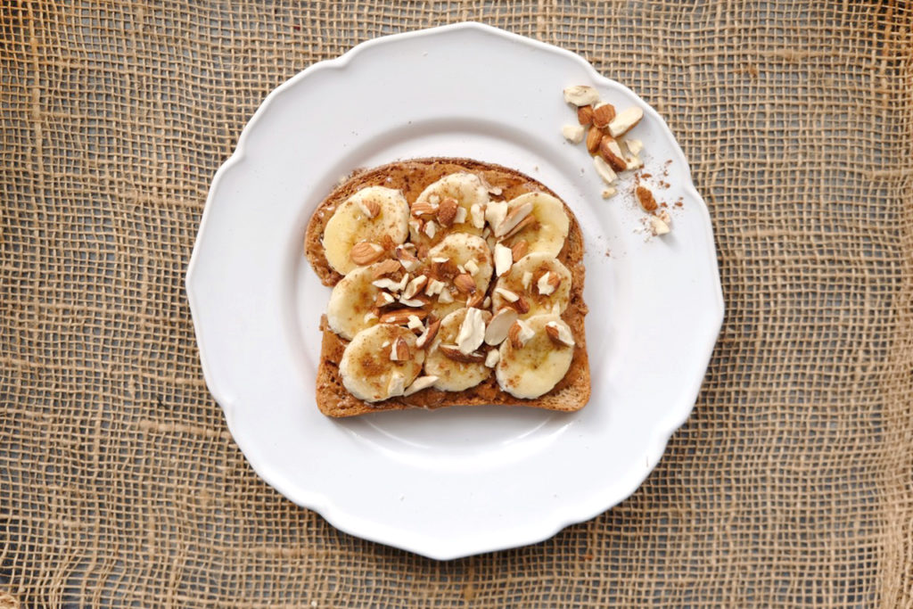Almond Butter and Banana Toast