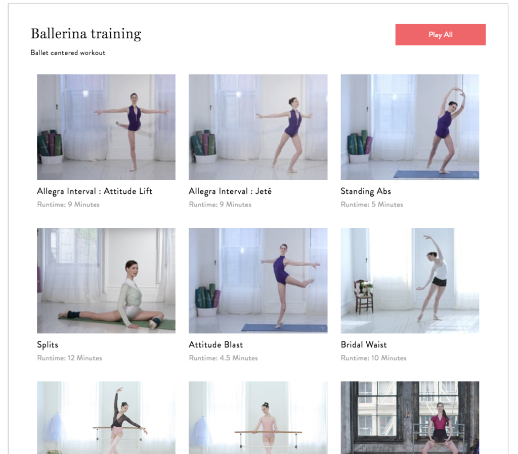 Ballerina Training - Ballet centered workout