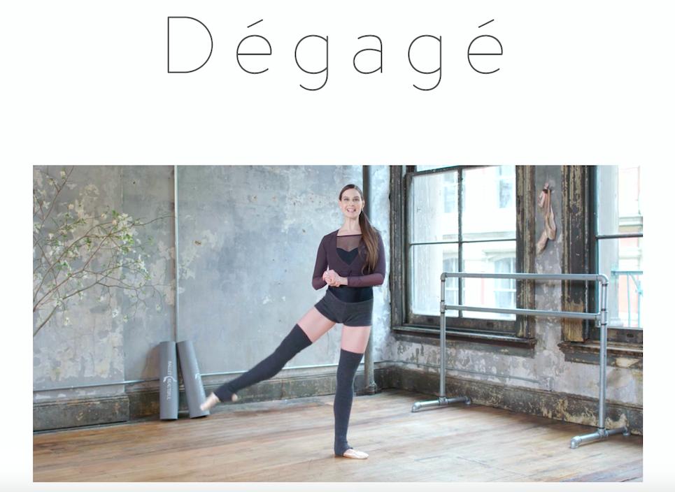 Ballet Glossary: Dégagé
