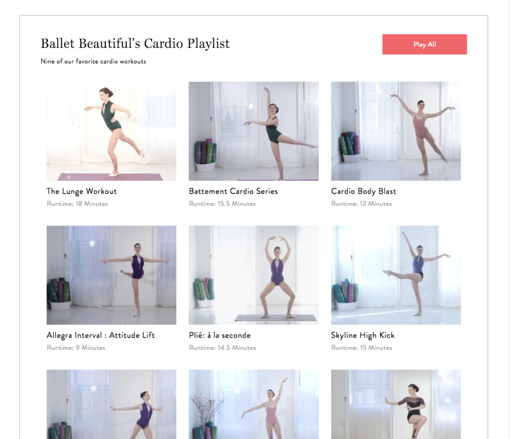 Ballet Beautiful's Cardio Playlist