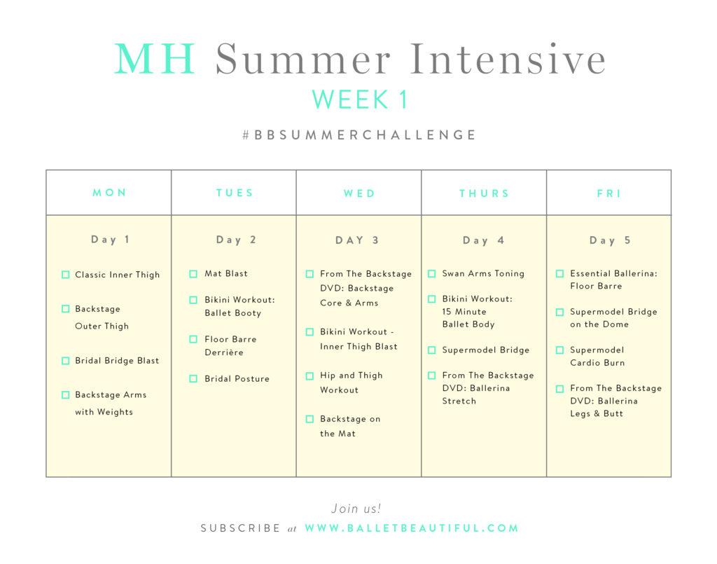 MH Summer Intesive Week 1