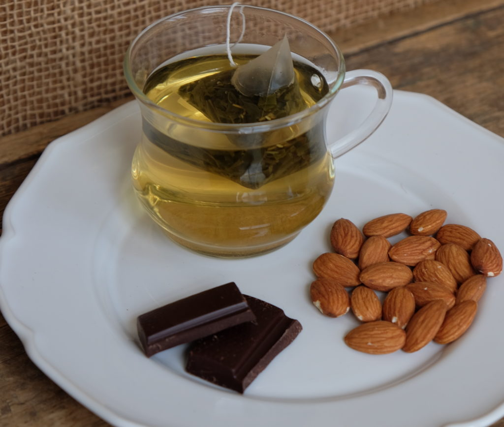 Tea, Almonds, and Dark Chocolate